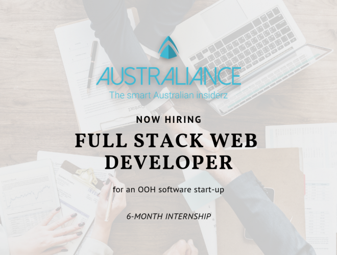 Internship in Sydney: Full Stack Web Developer