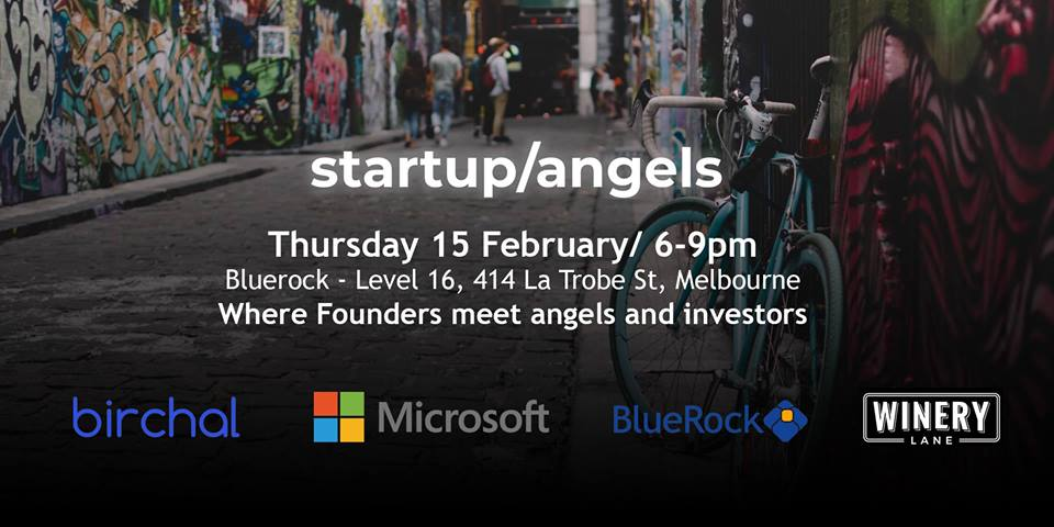 0218173ed7c Startup Angels is launching in Melbourne on 15 February 2018 ...