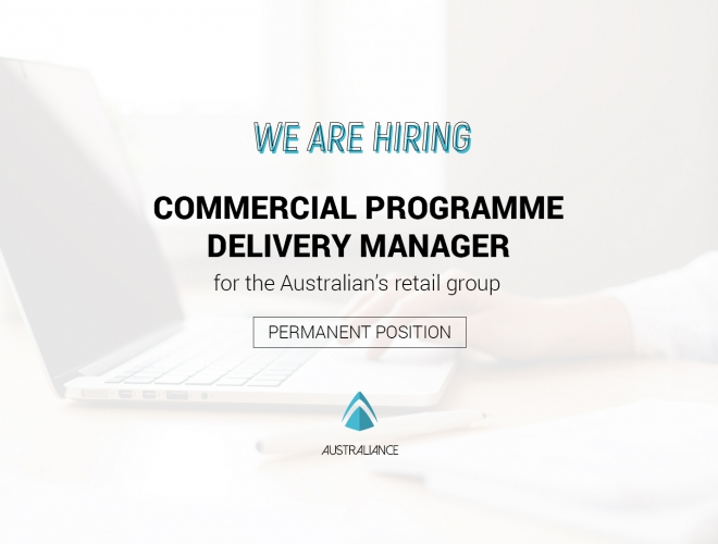 Commercial Programme Delivery Manager