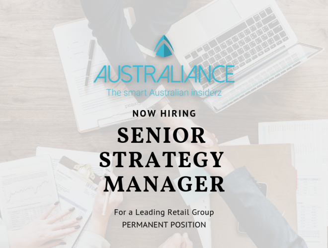 Job offer: Senior Strategy Manager for a leading Australian Retail Group