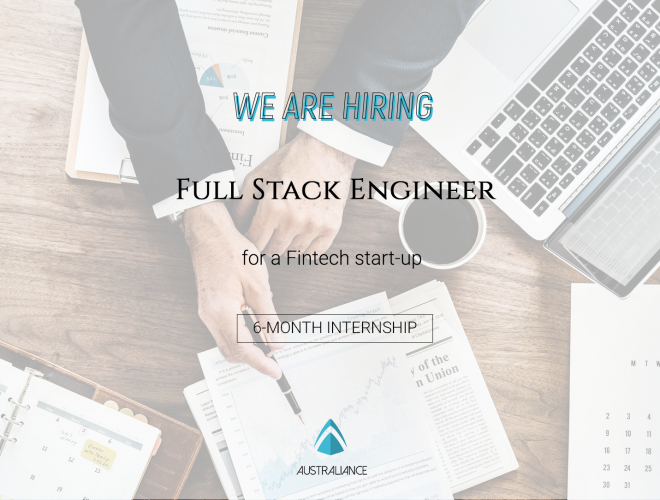Internship offer: Full Stack Engineer in a Fintech startup in Sydney