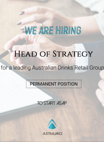 Job offer: Head of Strategy, based in Sydney