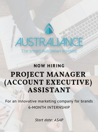 Internship Offer: Project Manager (Account Executive) Assistant