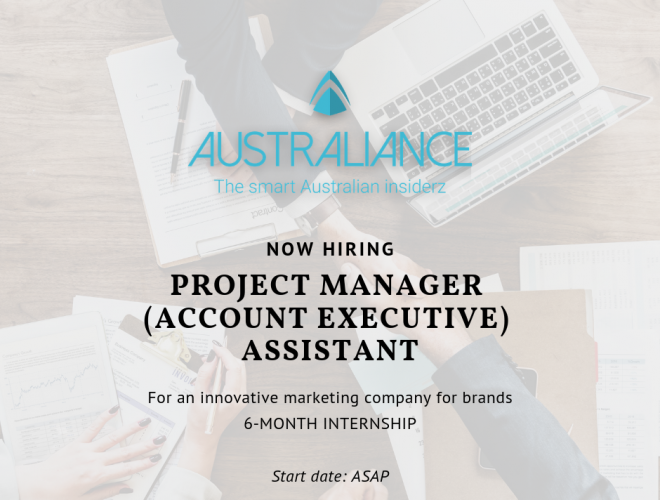Closed-Internship Offer: Project Manager (Account Executive) Assistant