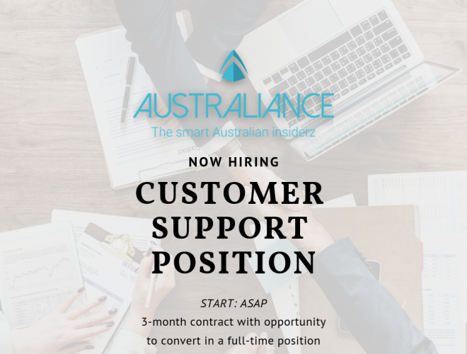 JOB OFFER: Customer Support Position